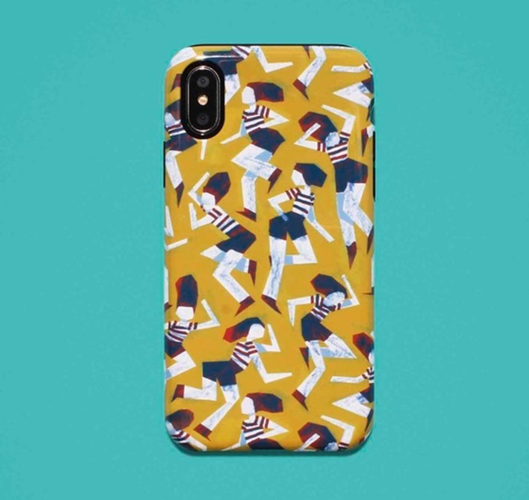 Human pattern design on phone case.