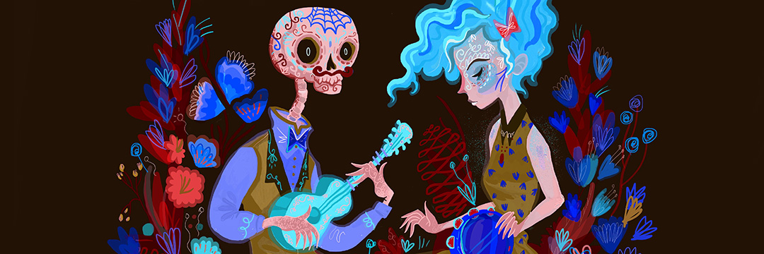 The Day Of Dead Sugar Skulls And Art