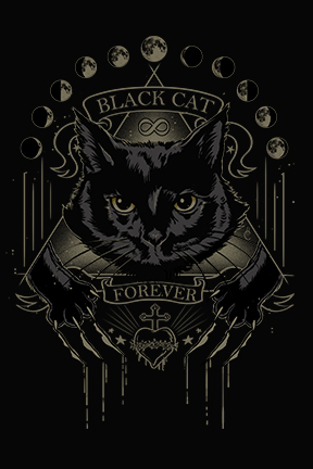 Black cat forever scratching the surface