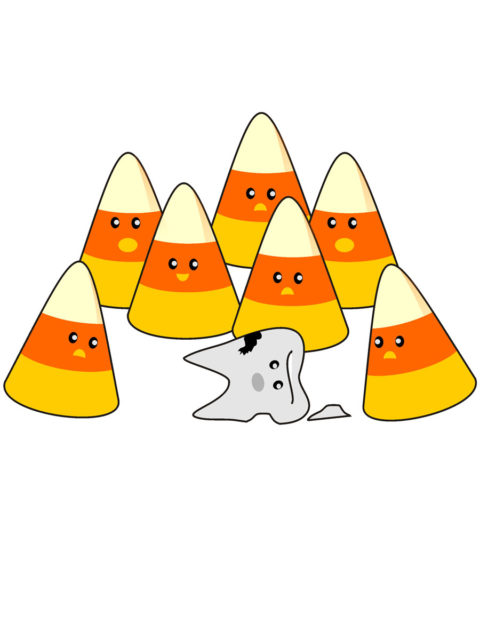 Candy corn eating tooth