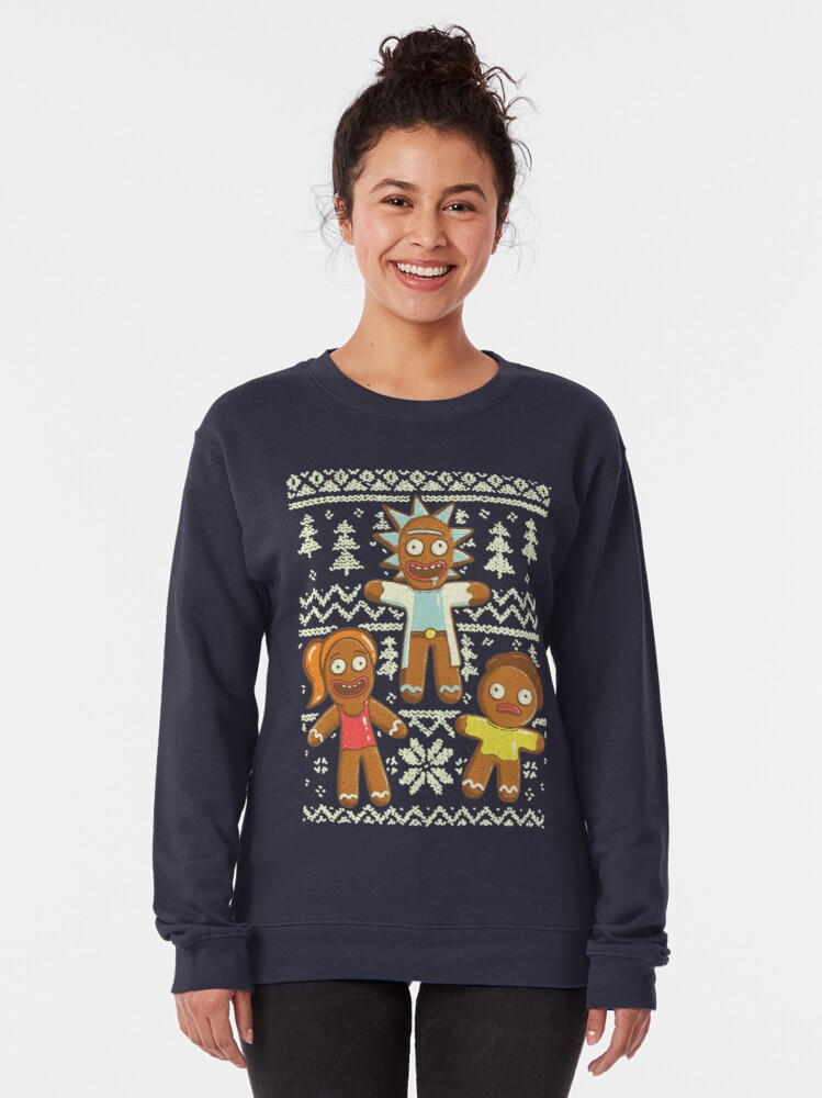 gingerbread rick and morty sweater