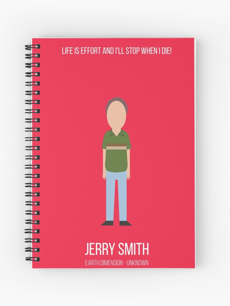 Jerry Smith Rick and Morty minimalist drawing red background