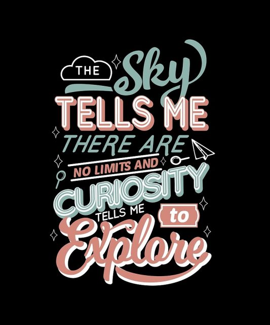 Quote illustration about exploring