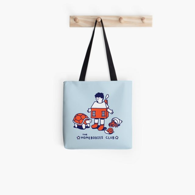 Tote with funny snail and turtle picture