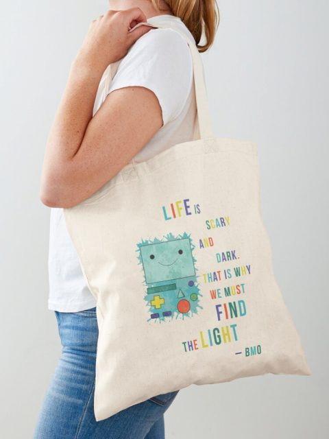 Adventure Time cotton tote bag BMO quote life