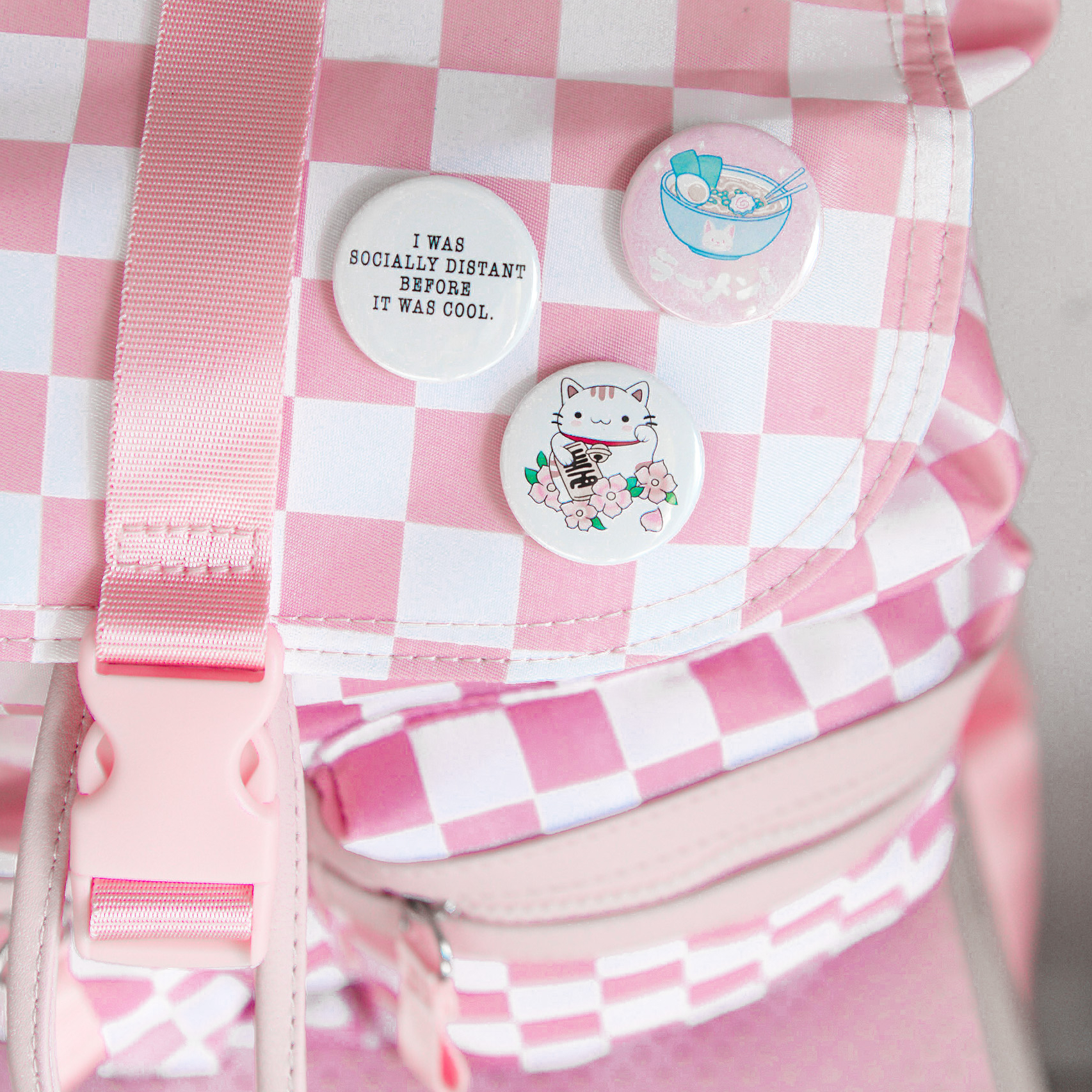 Photo of Backpack with pin buttons