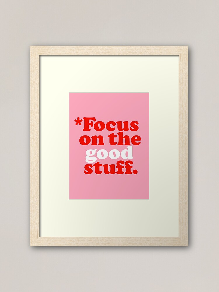 Photo of Inspiration quote in a framed print