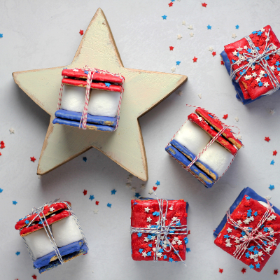 A photo of Biscuits wrapped as a gift