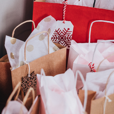 photo of Gift bags as gift wrapping idea