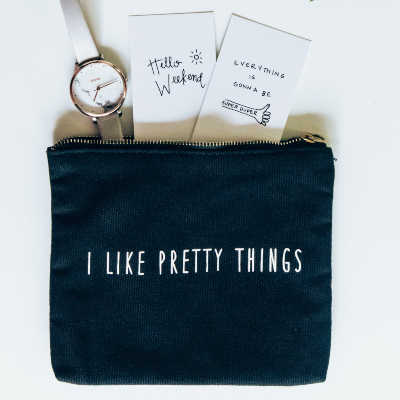 Photo of a Gift wrapped in zipper pouch