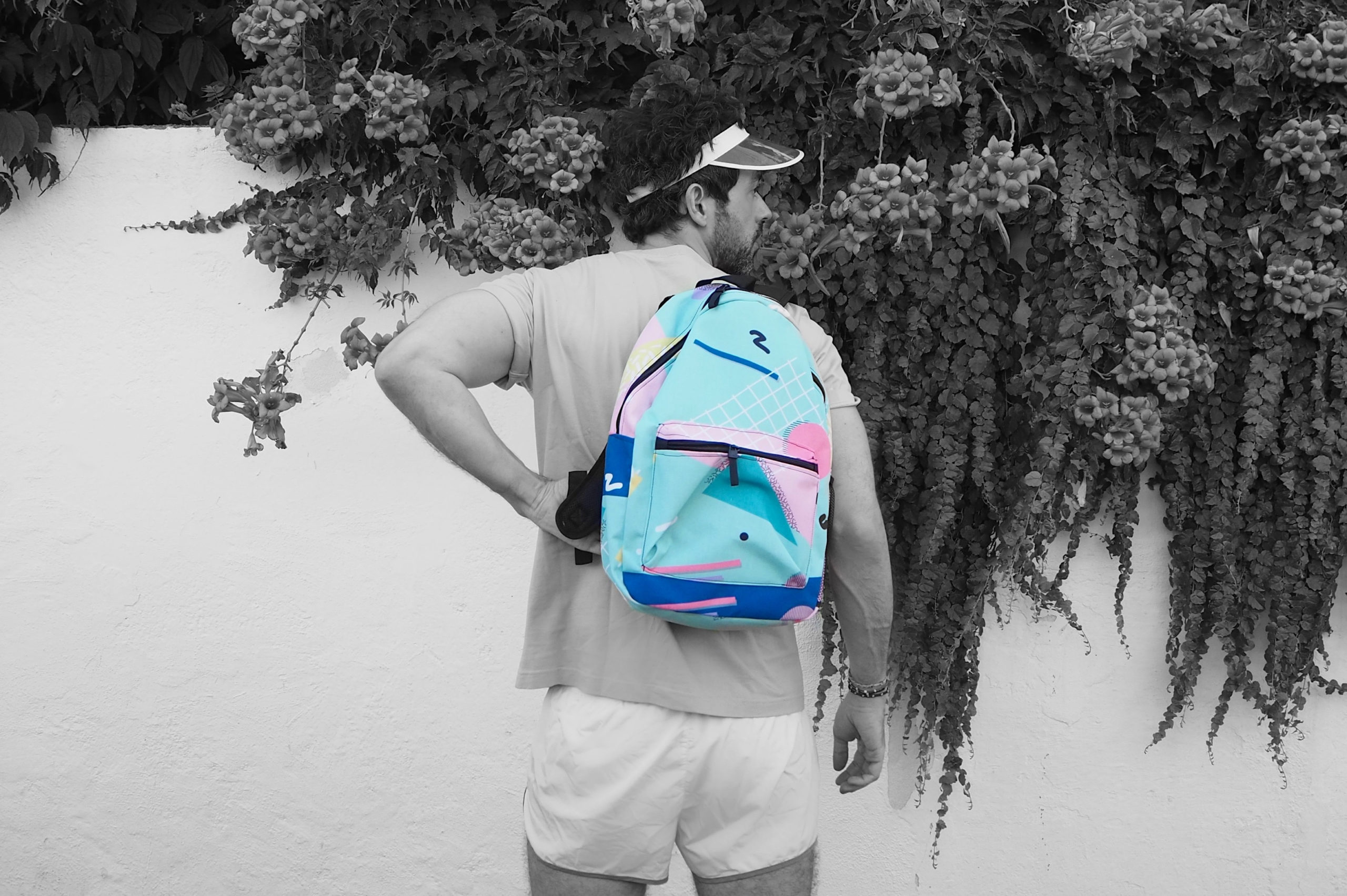 Photo of a Guy with a backpack
