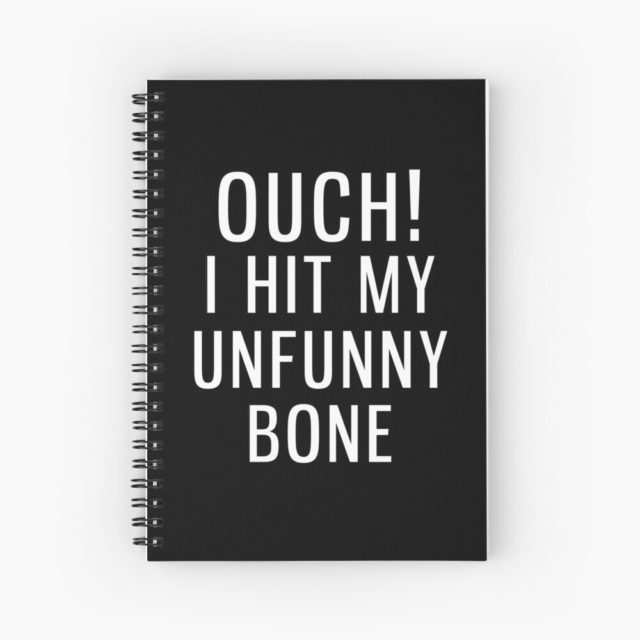 photo of a Skeleton pun notebook