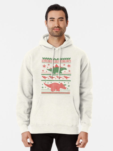 Photo of a Christmas Dinos Ugly Sweater