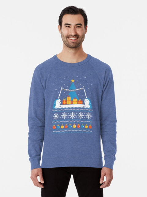 Photo of a Christmas Narwhals Ugly Sweater