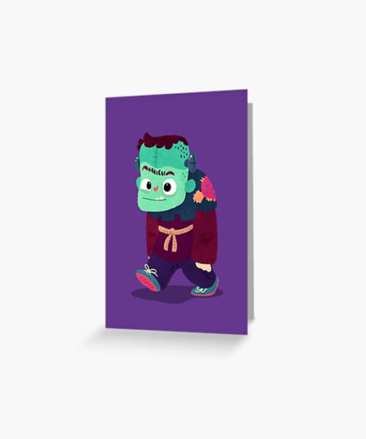 Photo of a Greeting Card Frankenstein's Monster