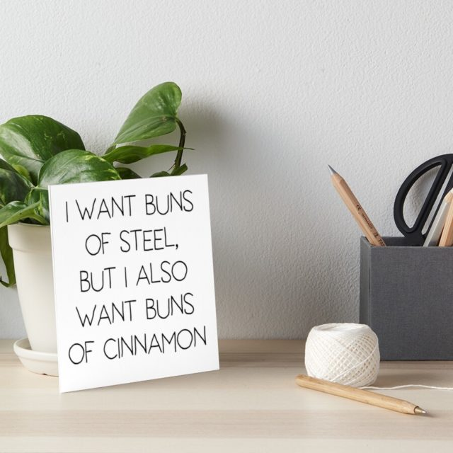 Photo of a Funny pun art board print