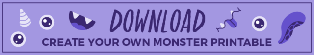 button to download kawaii monster coloring page