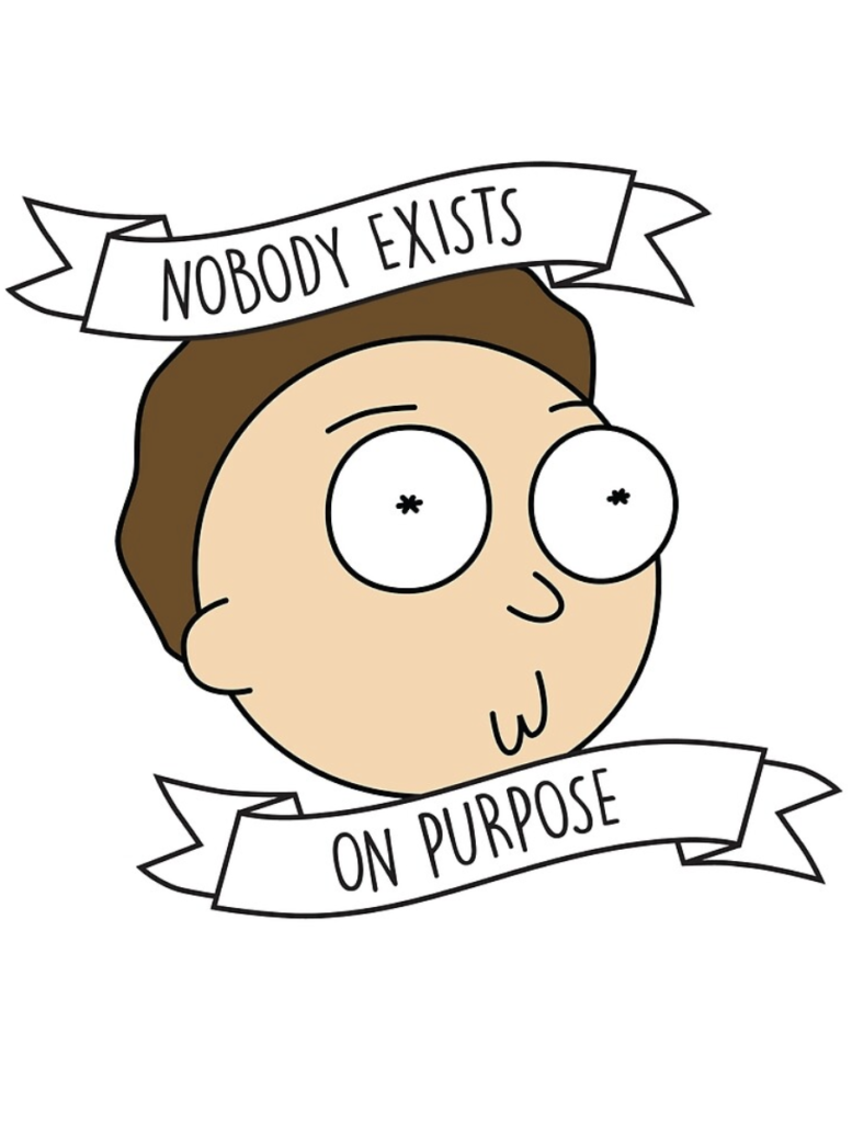 nobody exists on purpose rick and morty drawing