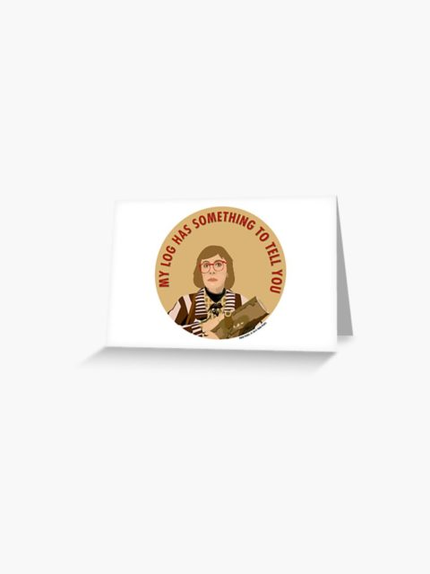 twin peaks log lady card my log has something to tell you