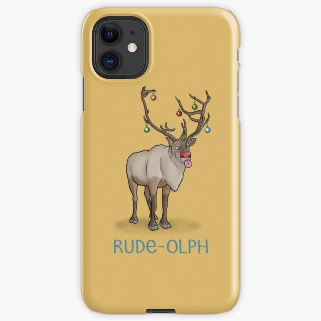 Photo of a Rude-olph Christmas Pun iPhone Case & Cover