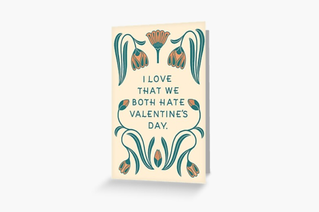 Photo of an Anti Valentine's Day Greeting Card