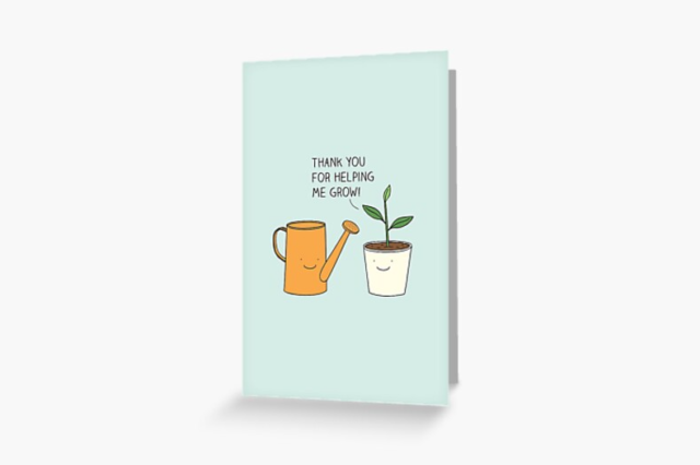 Photo of a Valentine's Day Greeting Card Helping me grow