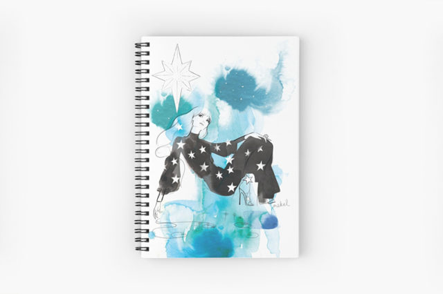 Photo of a spiral notebook - The Christmas Star