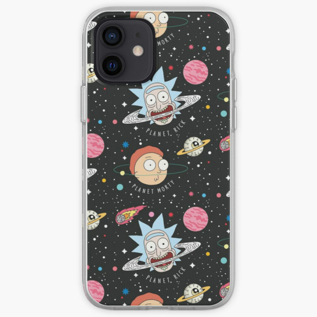 rick and morty plastic phone case