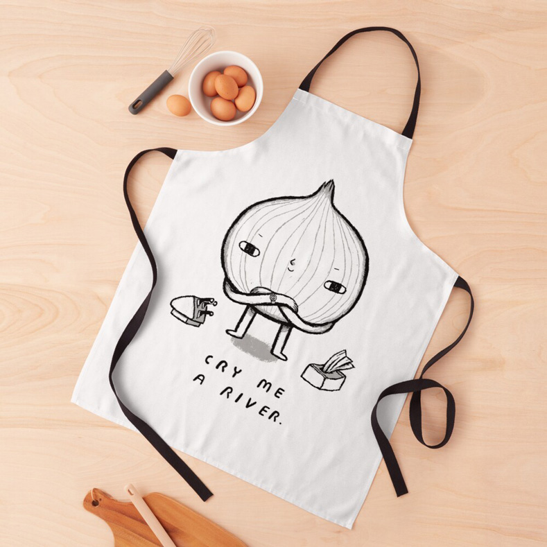 cry me a river funny apron