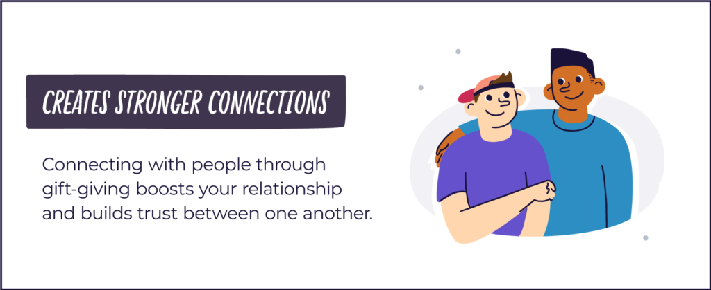 gifting creates stronger connections