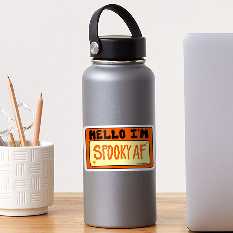 funny fall sayings sticker on hydro flask